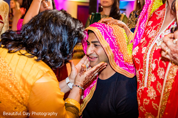 Indian groom's haldi ceremony.