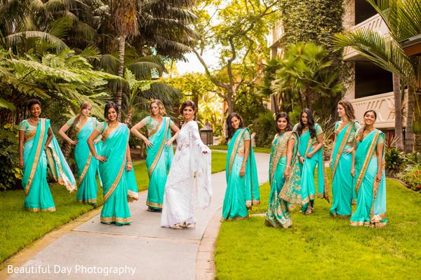 Stylish Indian bridal party.