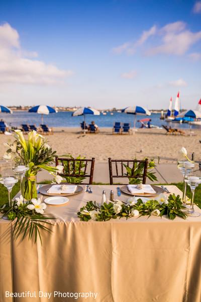 Seashore Indian wedding reception.