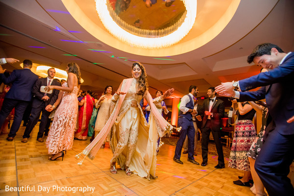 indian bride and groom,indian wedding reception,dj,choreography