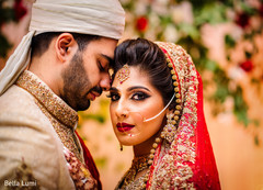 Glowing indian lovebirds photography