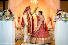 Fairy-tale Indian bride and groom photo shoot.