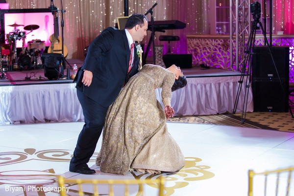indian wedding reception,indian bride and groom,first dance,dj