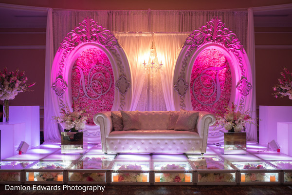 floral and decor,indian wedding stage,lightning