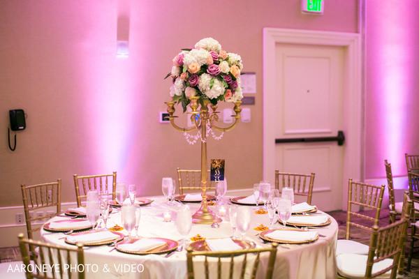 Amazing indian wedding reception table decor