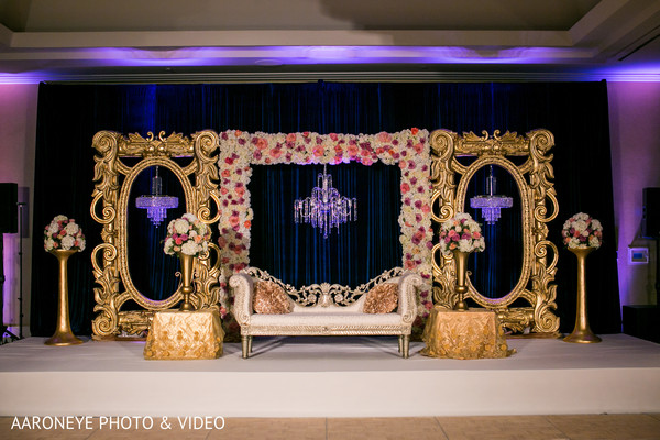 indian wedding reception,indian wedding reception floral and decor,indian wedding planning and design,reception stage
