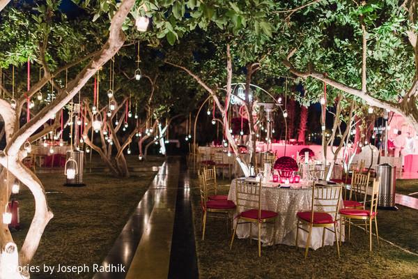 Magical Outdoor Indian Wedding Reception Photo 138735