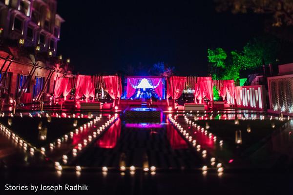 Breathtaking Indian wedding reception lightning.