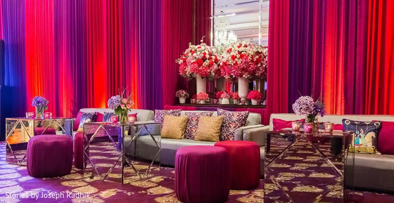 Indian wedding reception lounge.