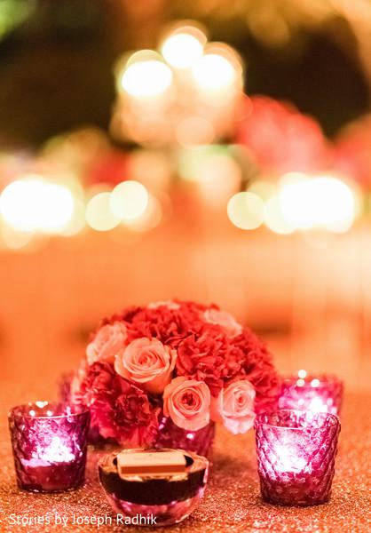 Charming Indian wedding floral arrangement.
