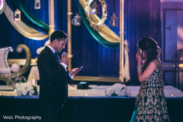 Indian groom giving a lovely speech