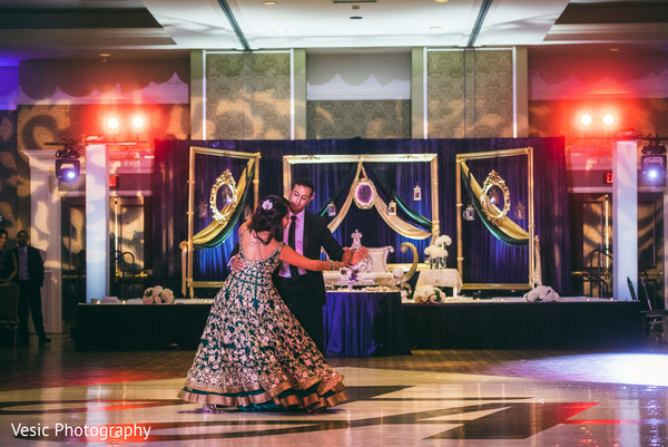 Classic Indian bride and groom first dance