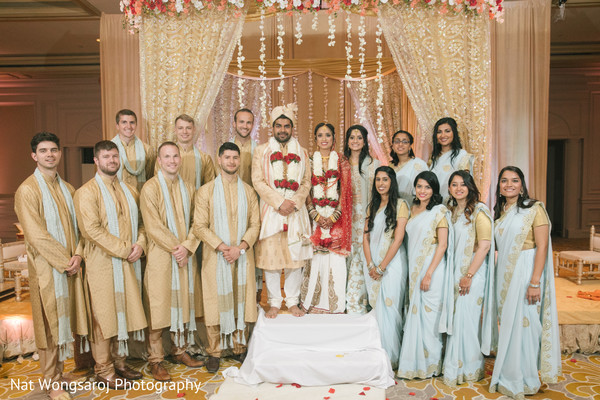 indian bride fashion,bridal party,indian groomsmen
