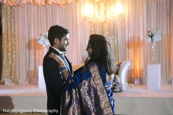 blue lengha,indian groom fashion,wedding reception