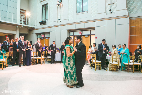 Indian newlyweds first dance.