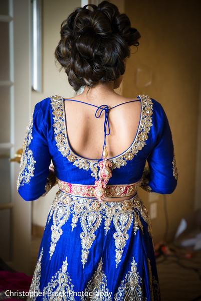 lengha,blue lengha,indian bride fashion