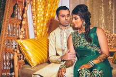 indian bride and groom,mehndi,pre-wedding fashion
