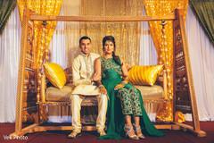 indian bride and groom,pre-wedding photography,mehndi night