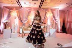 Indian bride solo dance.