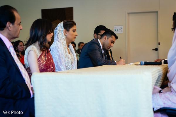Indian bride and groom, Indian wedding ceremony,