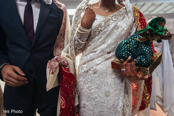 Indian newlyweds leaving the ceremony.