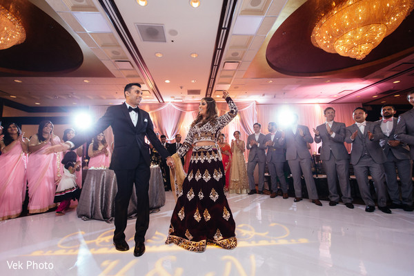 indian wedding reception,indian bride and groom,dj,lightning