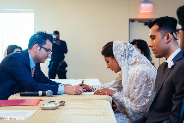 Nikkah ceremony.