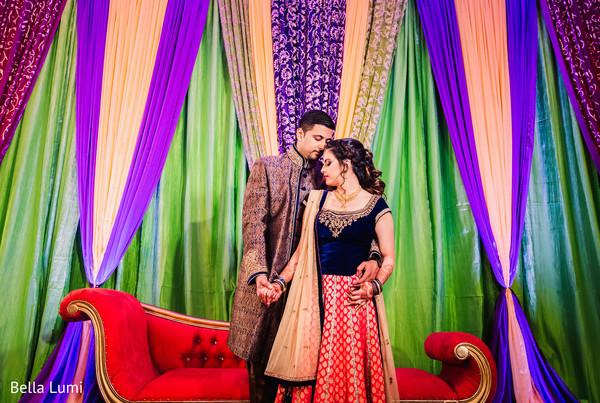 sangeet,pre- wedding celebrations,indian bride and groom