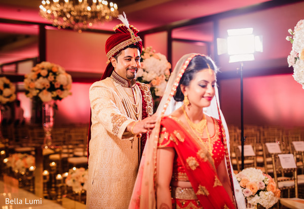 first look,indian wedding photography,indian bride,floral and decor