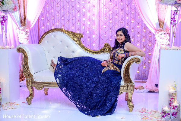 Indian bride reception photo shoot in Mahwah, NJ Indian Wedding by House of Talent Studio