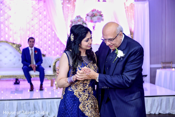 Cute indian bride dancing in Mahwah, NJ Indian Wedding by House of Talent Studio