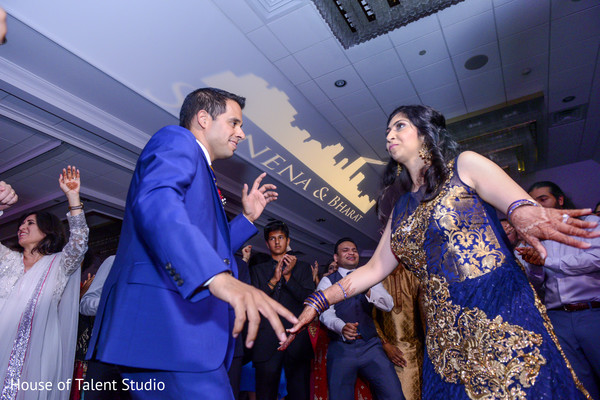 Adorable indian couple showing some dance moves in Mahwah, NJ Indian Wedding by House of Talent Studio