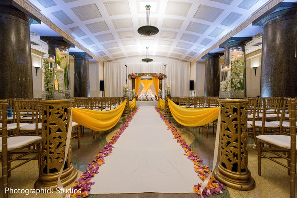 Indian wedding ceremony decor in Alexandria, VA Fusion Indian Wedding by Photographick Studios