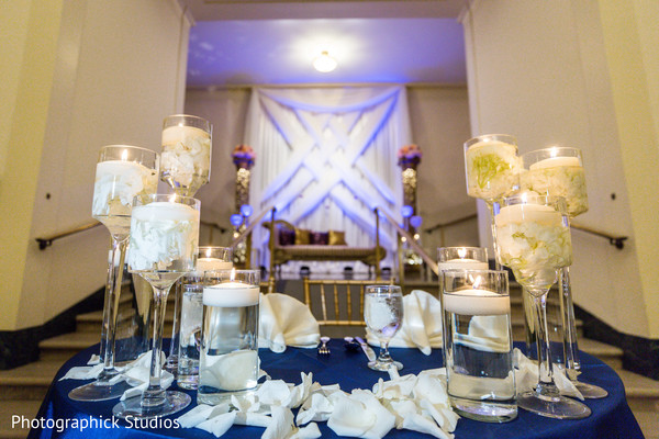 Perfect indian wedding table decor in Alexandria, VA Fusion Indian Wedding by Photographick Studios