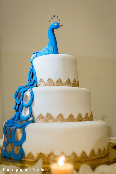 Impressive indian wedding cake in Alexandria, VA Fusion Indian Wedding by Photographick Studios