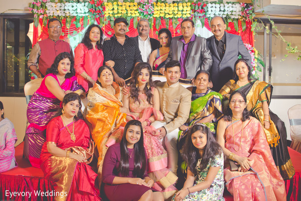 Indian engagement family portrait