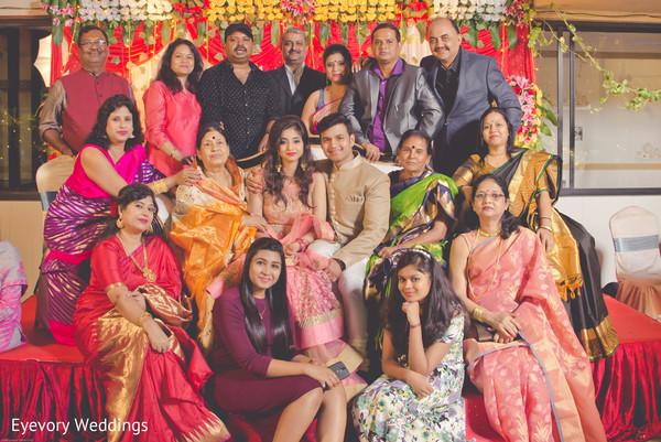 Vibrant indian engagement portrait