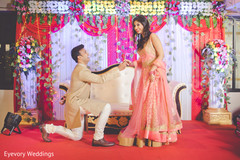 Inspiring indian bride and groom's engagement photo