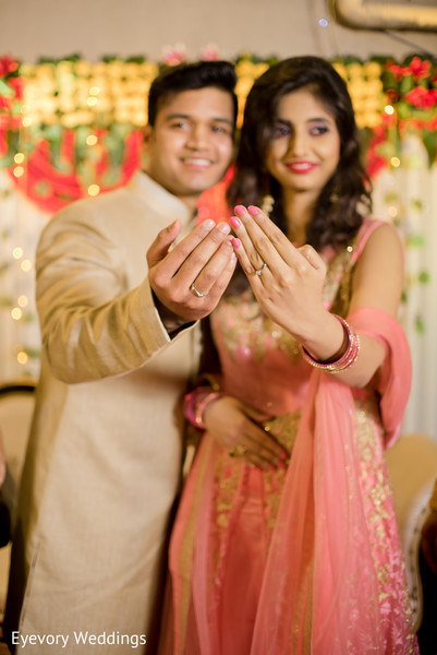 Adorable Indian Couple Showing Rings In Kolkata West Bengal Wedding By EyevoryWeddings