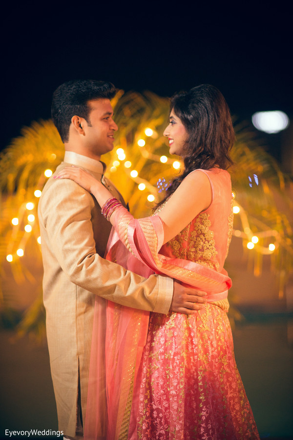 Amazing indian outdoor engagement photo session