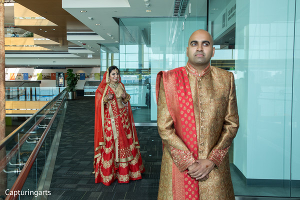 indian wedding photography,indian bride and groom,first look
