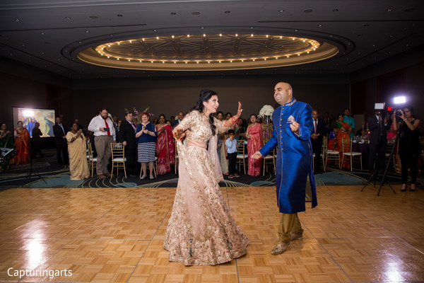 Indian bride and groom's first dance capture