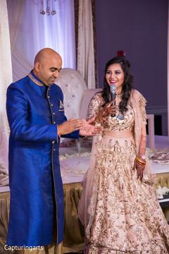 Indian bride giving her speech