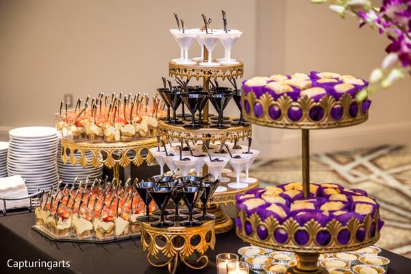 Indian wedding treats table