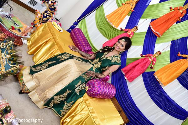 Maharani at her mehndi party.