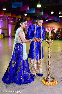 garba celebration,floral and decor,indian bride and groom