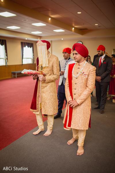 Sikh groom entry.