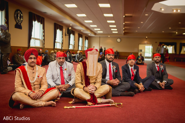 Sikh groom waiting for the bride.