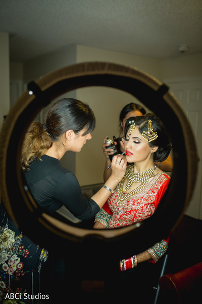 Indian bride beauty session.