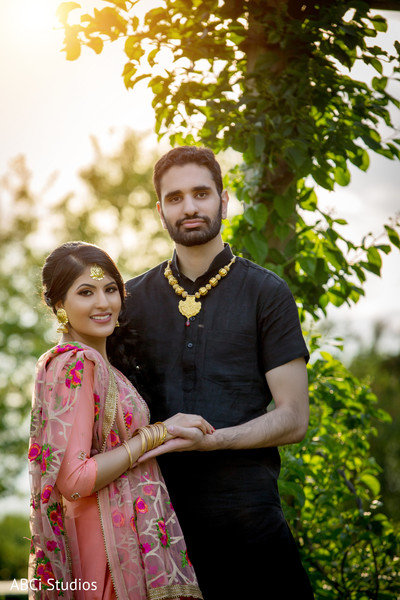 Sikh couple engagement session.